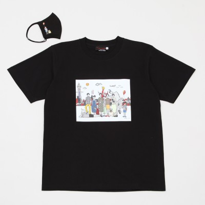 libellule japon リベリュル ジャポン  Tシャツ&マスクセット黒 S→L Mサイズ レディース