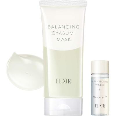 ELIXIR REFLET(エリクシール ルフレ) バランシング おやすみマスク 限定セット aL フェイスパック フレッシュブーケの香り 本体 90g + 化粧水ミニボトル