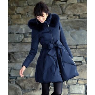 RUIRUE BOUTIQUE / リュクシーフォックスファー付ダウンコート WOMEN ジャケット/アウター > ダウンジャケット/コート