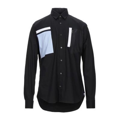 LHU URBAN シャツ ブラック 48 コットン 97% / ポリウレタン 3% / ポリエステル シャツ