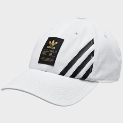 アディダス オリジナルス キャップ adidas Originals Superstar 50 Relaxed Cap 帽子 White/Black/Gold