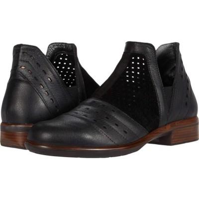 ナオト Naot レディース ブーツ シューズ・靴 Rivotra Black Suede Perforated/Soft Black Leather/Black Velvet Nubuck