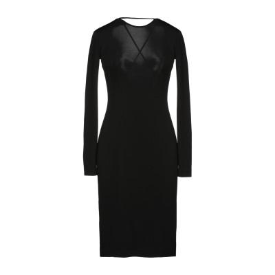 ディースクエアード DSQUARED2 ミニワンピース&ドレス ブラック XL レーヨン 95% / ポリウレタン 5% ミニワンピース&ドレス