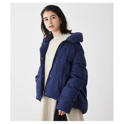 【アズールバイマウジー】 VOLUME NECK CORDUROY PADDED CT レディース D/BLU3 M AZUL BY MOUSSY