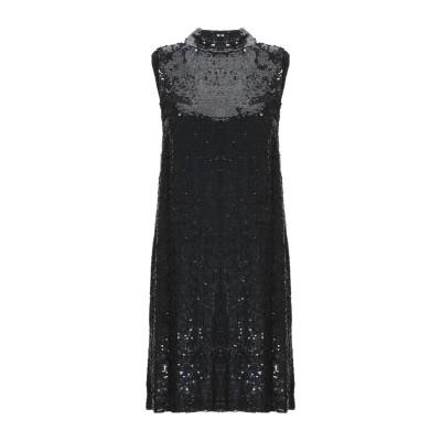パロッシュ P.A.R.O.S.H. ミニワンピース&ドレス ブラック XS レーヨン 100% / ポリ塩化ビニル ミニワンピース&ドレス