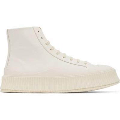 ジル サンダー Jil Sander メンズ スニーカー シューズ・靴 Off-White Vulcanized High-Top Sneakers Coconut