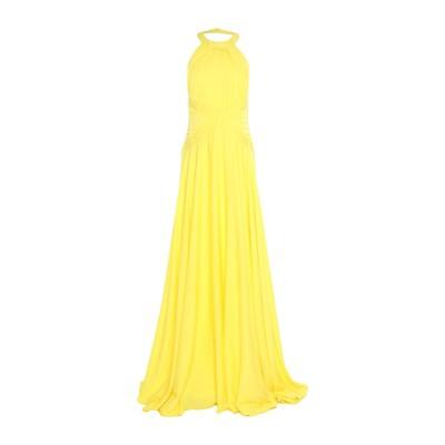 MANGANO ロングワンピース&ドレス イエロー 40 ポリエステル 97% / ポリウレタン 3% ロングワンピース&ドレス