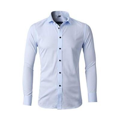長袖 ワイシャツ メンズ カラーシャツ 長袖 Yシャツ 形態安定 スリムフィット ビジネス 細身 Yシャツ オールシーズン 快適 通気性抜群 無地 ラ