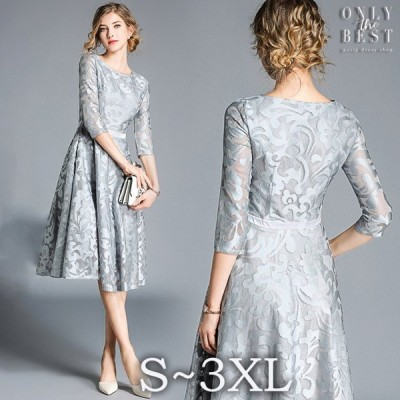 高級 レース 結婚式 ドレス お呼ばれ ワンピース 20代 30代 40代 パーティードレス 二次会 大きいサイズ 親族 演奏会 フォーマル キャバ zinya-x0002