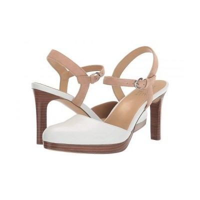 Naturalizer ナチュラライザー レディース 女性用 シューズ 靴 ヒール Tulip - White Nude Leather/Suede