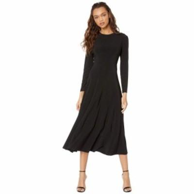 ノーマ カマリ KAMALIKULTURE by Norma Kamali レディース ワンピース ワンピース・ドレス Long Sleeve Flared Dress Black