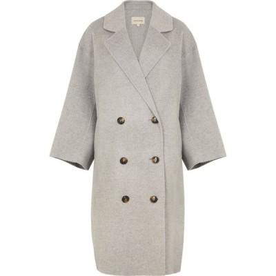 LOULOU スタジオ Loulou Studio レディース コート ダブルブレストコート アウター borneo grey double-breasted wool-blend coat Grey