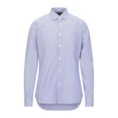 DOMENICO TAGLIENTE ストライプ柄シャツ ファッション  メンズファッション  トップス  シャツ、カジュアルシャツ  長袖 ブルー