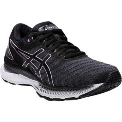 アシックス レディース スニーカー シューズ GEL-Nimbus 22 Running Sneaker Black/Lilac Tech