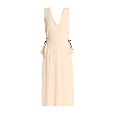 TOME 7分丈ワンピース・ドレス ベージュ 4 レーヨン 70% / アセテート 26% / ポリウレタン 4% 7分丈ワンピース・ドレス