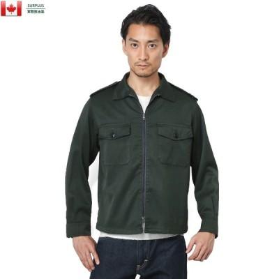 実物 USED カナダ軍 2ポケット ファティーグジャケット メンズ ミリタリー アウター ブルゾン ジャンバー【クーポン対象外】