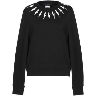 ニール・バレット NEIL BARRETT スウェットシャツ ブラック S コットン 100% スウェットシャツ