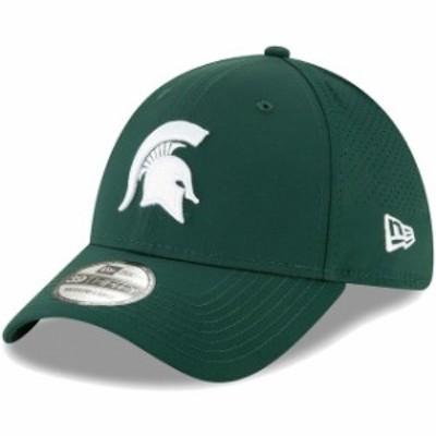 New Era ニュー エラ スポーツ用品  New Era Michigan State Spartans Green Perforated Play 39THIRTY Flex Hat