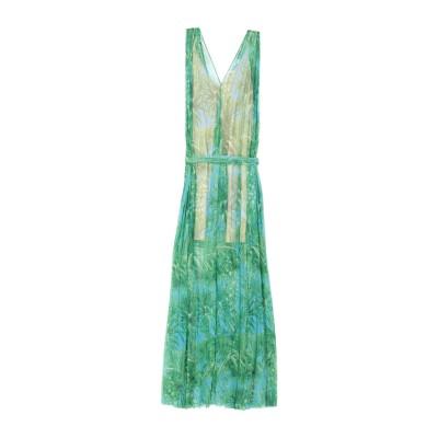 エムエスジーエム MSGM ロングワンピース&ドレス グリーン 40 ポリエステル 100% ロングワンピース&ドレス
