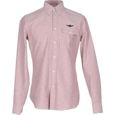 アエロナウティカ ミリターレ AERONAUTICA MILITARE メンズ シャツ トップス solid color shirt Rust