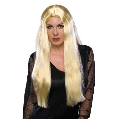 ゴスロリ 魔女 ロング ウィッグ、かつら ブロンド、金髪 女性用 24インチ【ハロウィン:ウィッグ_hw16_mk05】