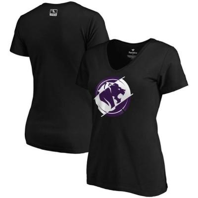レディース スポーツリーグ Eスポーツ Los Angeles Gladiators Fanatics Branded Women's Precision Division V-Neck T-Shirt - Black