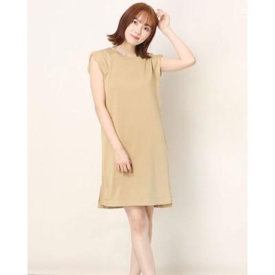 ポンパドール POMPADOUR Brilliant Scallop Dress (Beige)