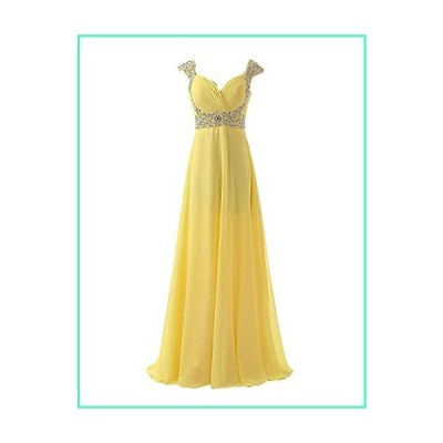 Sarahbridal Juniors Prom Dresses Long 2020 Miad of Honor Bridesmaid Wedding Party Gowns Yellow US2並行輸入品