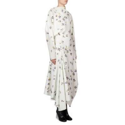 アクネ レディース ワンピース Floral Cotton Wrap Dress