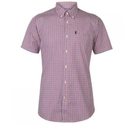 バブアー Barbour Lifestyle メンズ 半袖シャツ トップス Barbour Ggham Short Sleeve Shirt Red
