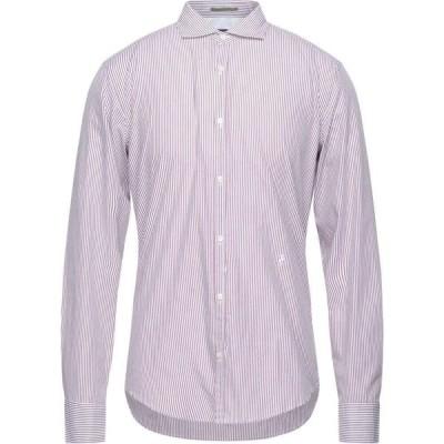 トラサルディ TRUSSARDI JEANS メンズ シャツ トップス striped shirt Maroon