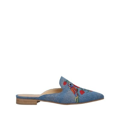 GIULIA N ミュール&サボサンダル ファッション  レディースファッション  レディースシューズ  サンダル、ミュール  サンダル ブルー