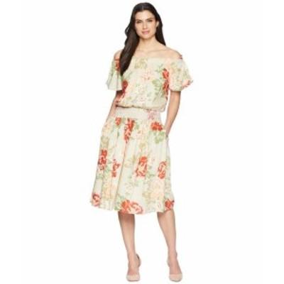 Donna Morgan ドナモーガン ドレス 一般 Off the Shoulder Linen Dress with Smocked Waist
