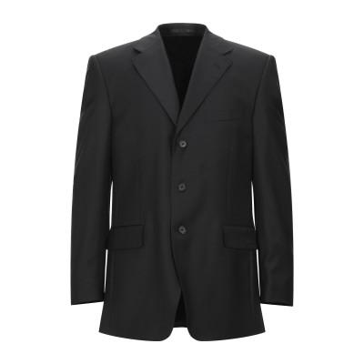 カナーリ CANALI テーラードジャケット ブラック 52 スーパー100 ウール 100% テーラードジャケット