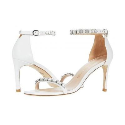 Stuart Weitzman スチュアートワイツマン レディース 女性用 シューズ 靴 ヒール Nunakedstraight Shin - White