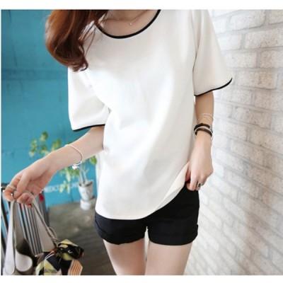 Tシャツ おしゃれ 半袖 無地 韓国ファッション 夏
