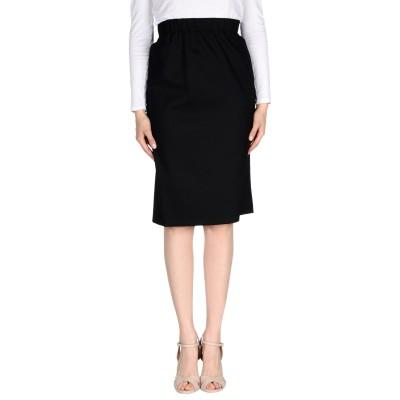 ブルー レ・コパン BLUE LES COPAINS ひざ丈スカート ブラック 40 バージンウール 55% / ポリエステル 28% / レーヨン