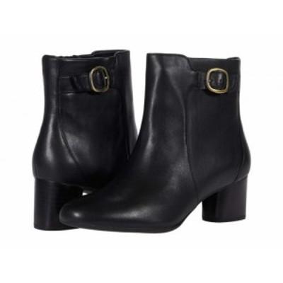 Clarks クラークス レディース 女性用 シューズ 靴 ブーツ アンクル ショートブーツ Un Cosmo Vibe Black Leather【送料無料】