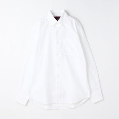 ムッシュ ニコル MONSIEUR NICOLE 【ex/tra】メランジ調カラミドビードレスシャツ (09ホワイト)