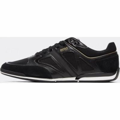 ヒューゴ ボス BOSS メンズ スニーカー シューズ・靴 Saturn Leather Trainer Black/Black