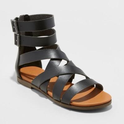 ユニバーサルスレッド Universal Thread レディース サンダル・ミュール シューズ・靴 Rosalee Microsuede Gladiator Sandals - Black