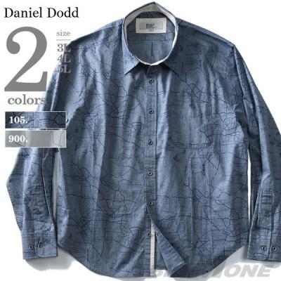 大きいサイズ メンズ DANIEL DODD 長袖プリントレギュラーシャツ azsh-190117