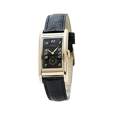 Circa Timepiece Men's Rectangular Watch Black and Goldtone CT125TB 並行輸入品