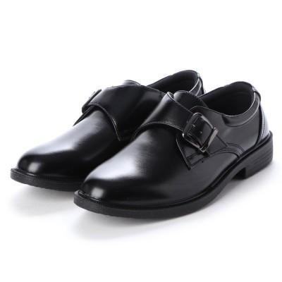 ブラッチャーノ Bracciano ビジネスシューズ メンズ 撥水 モンクストラップ 紳士靴 (BLACK)