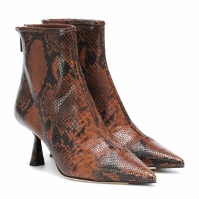 ジミー チュウ Jimmy Choo レディース ブーツ ショートブーツ シューズ・靴 Kix 65 snake-effect ankle boots Cuoio