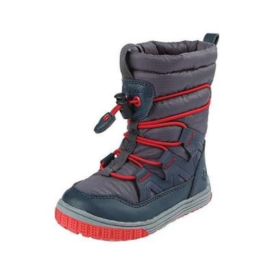 Northside Baby-Boy's Toboggan Snow Boot, Dark Gray/Red, 12 Medium US Toddler【並行輸入品】