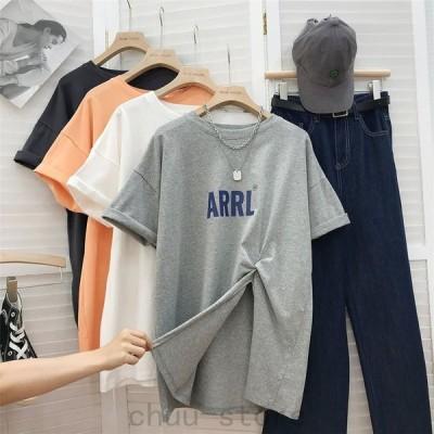 大きいサイズレディースTシャツゆったりかわいいインスタ映えM〜3XLLL2L3L4L春夏