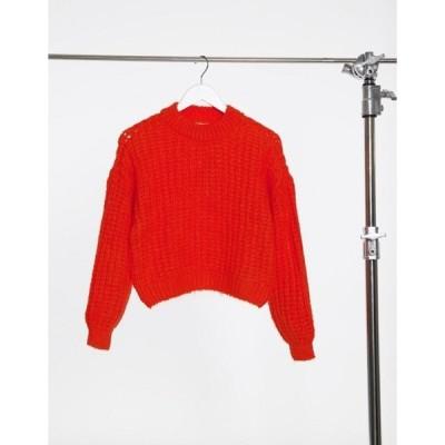 オンリー レディース ニット・セーター アウター Only large knit sweater in red