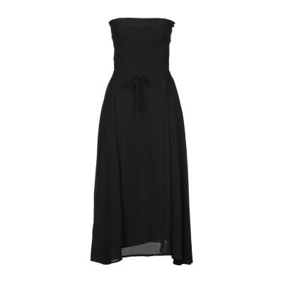 KATE BY LALTRAMODA 7分丈ワンピース・ドレス ブラック 46 ポリエステル 100% 7分丈ワンピース・ドレス