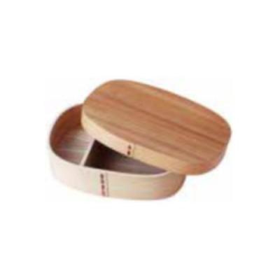 杉 わっぱ弁当 めんず 木製 ワッパ弁当 ランチボックス お弁当箱 丸型 小判型 一段 木製 66016 小柳産業 H